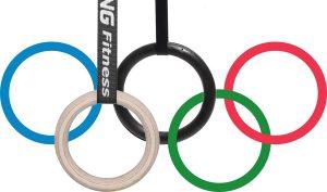 Hangel-Ringe stellen die olympische Ringe dar